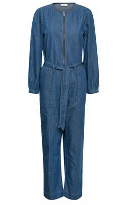 Karen By Simonsen Buksedragt - FigureKB Jumpsuit, Medium Blue